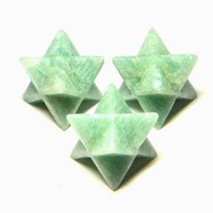 Amazonite Merkaba Stars
