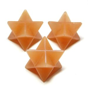 Orange Aventurine Merkaba Stars