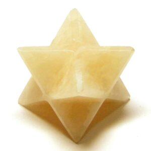 Peach Moonstone Merkaba Star