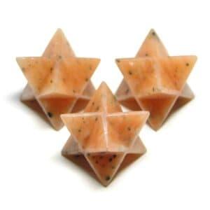 Pink Amazonite Merkaba Star