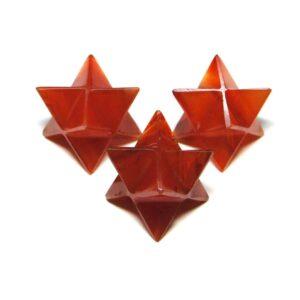 Red Carnelian Merkaba Stars