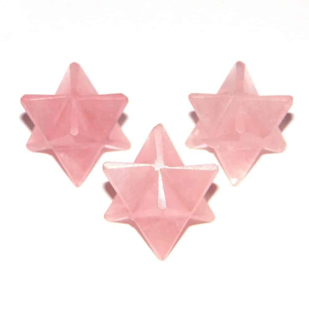 Rose Quartz Merkaba Stars