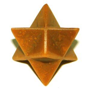 Yellow Jasper Merkaba Stars