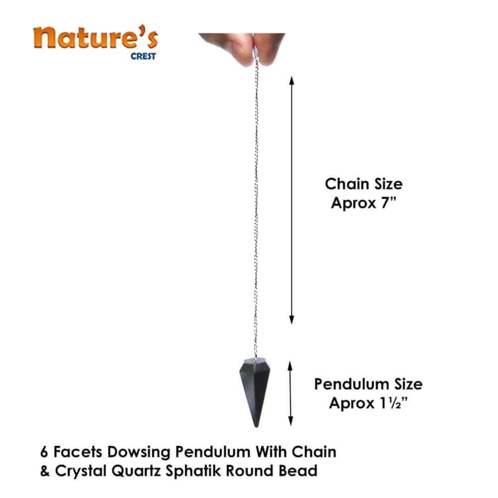 Rose Quartz Faceted Dowsing Pendulum Nature's Crest PD023 ₹249.00