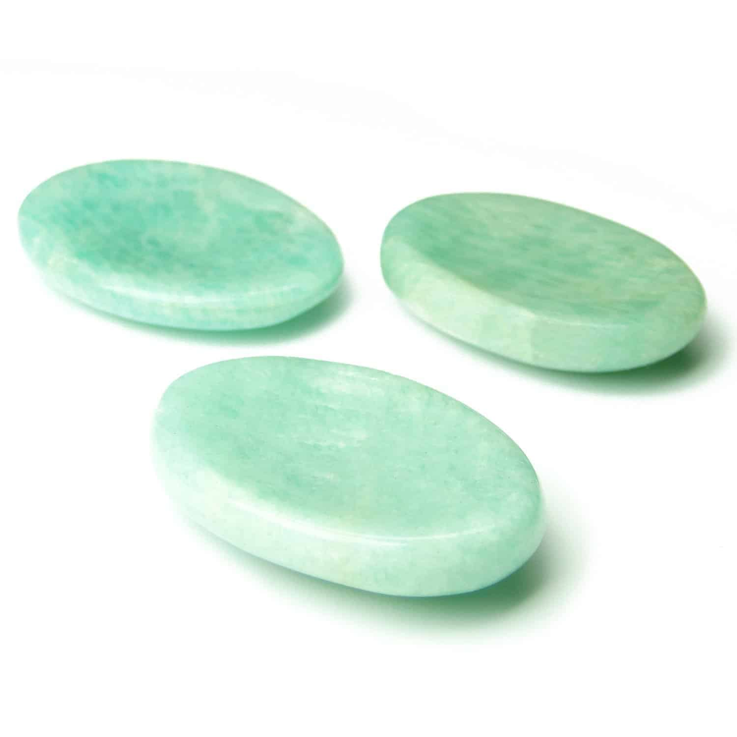 Amazonite Worry Stone Palm Stone Thumb Stone Nature's Crest WS0001 ₹ 269.00