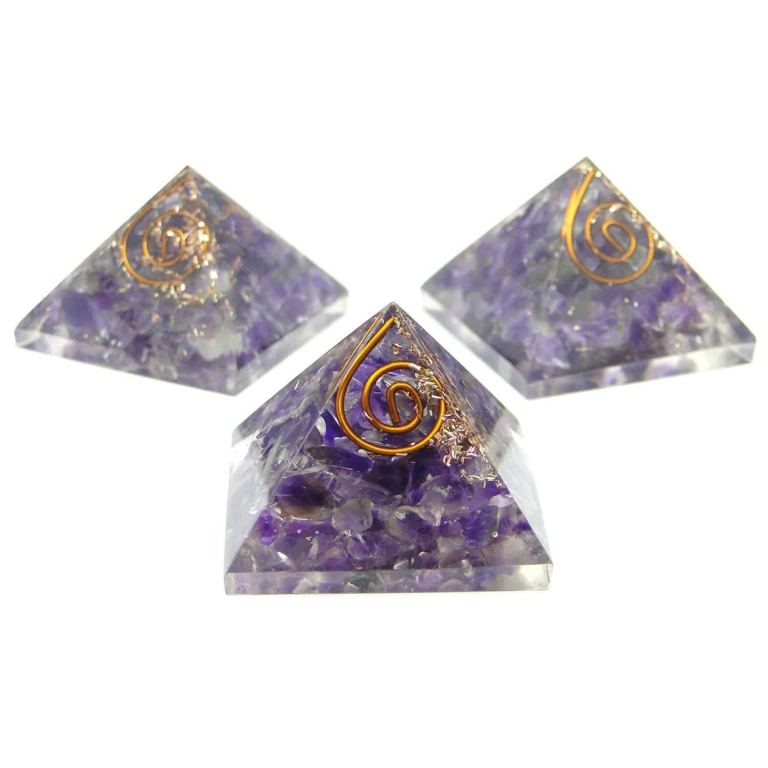 Amethyst Orgone Pyramid Nature's Crest OPY001 ₹ 299.00