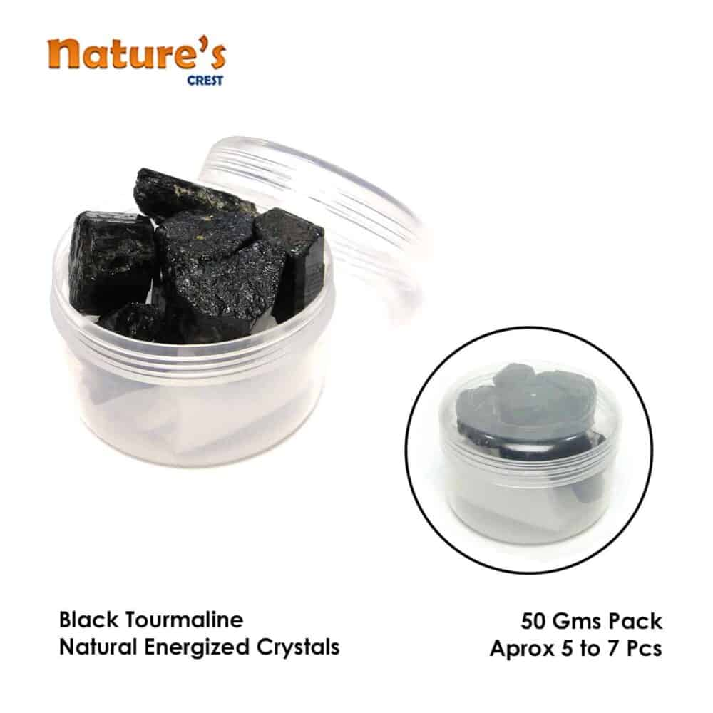 Black Tourmaline Natural Raw Rough Crystals Nature's Crest RC001 ₹349.00