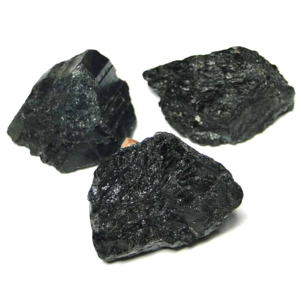 Black Tourmaline Natural Raw Rough Chunks Nature's Crest RC007 ₹ 199.00