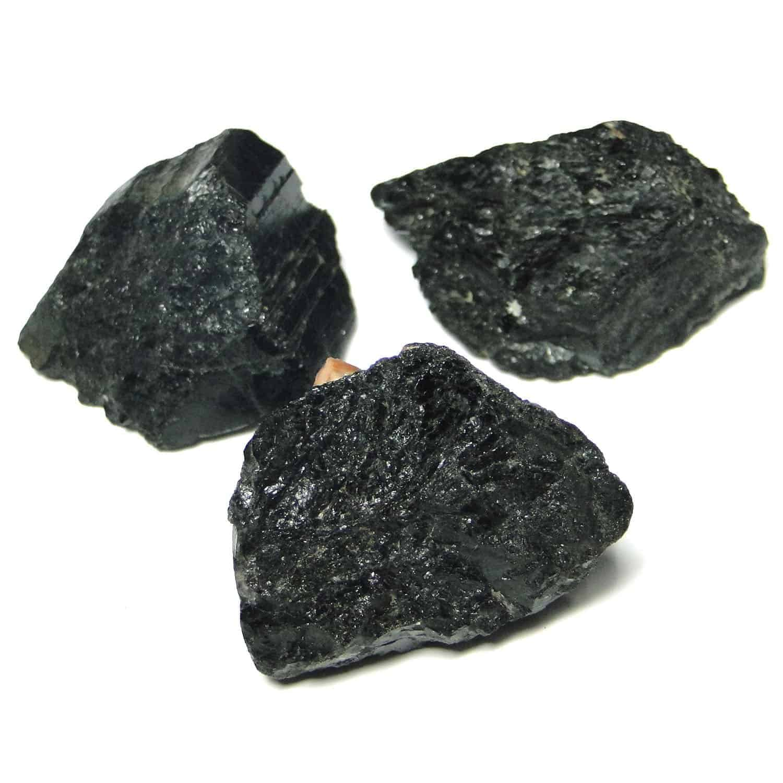Black Tourmaline Natural Raw Rough Chunks Nature's Crest RC007 ₹199.00