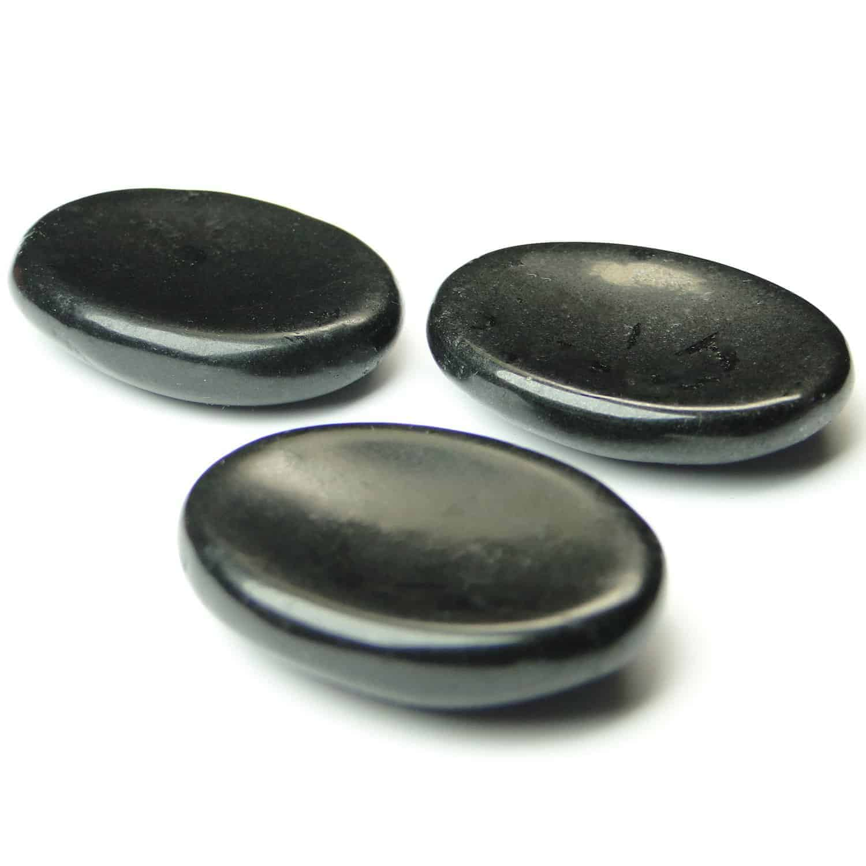 Black Tourmaline Worry Stone Palm Stone Thumb Stone Nature's Crest WS0003 ₹269.00