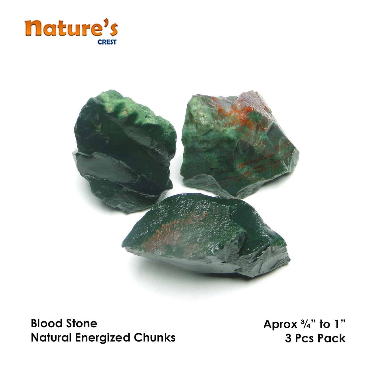 Blood Stone Natural Raw Rough Chunks Nature's Crest RC019 ₹199.00