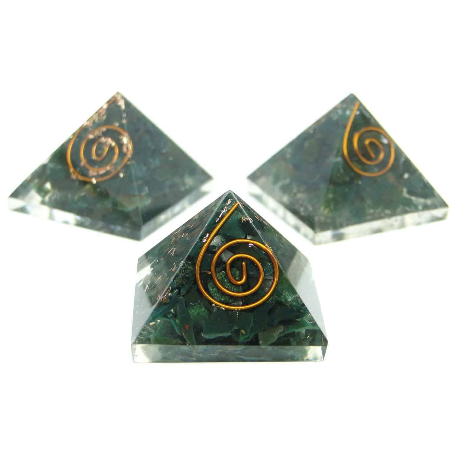 Blood Stone (Heliotrope) Orgone Pyramid Nature's Crest OPY003 ₹299.00