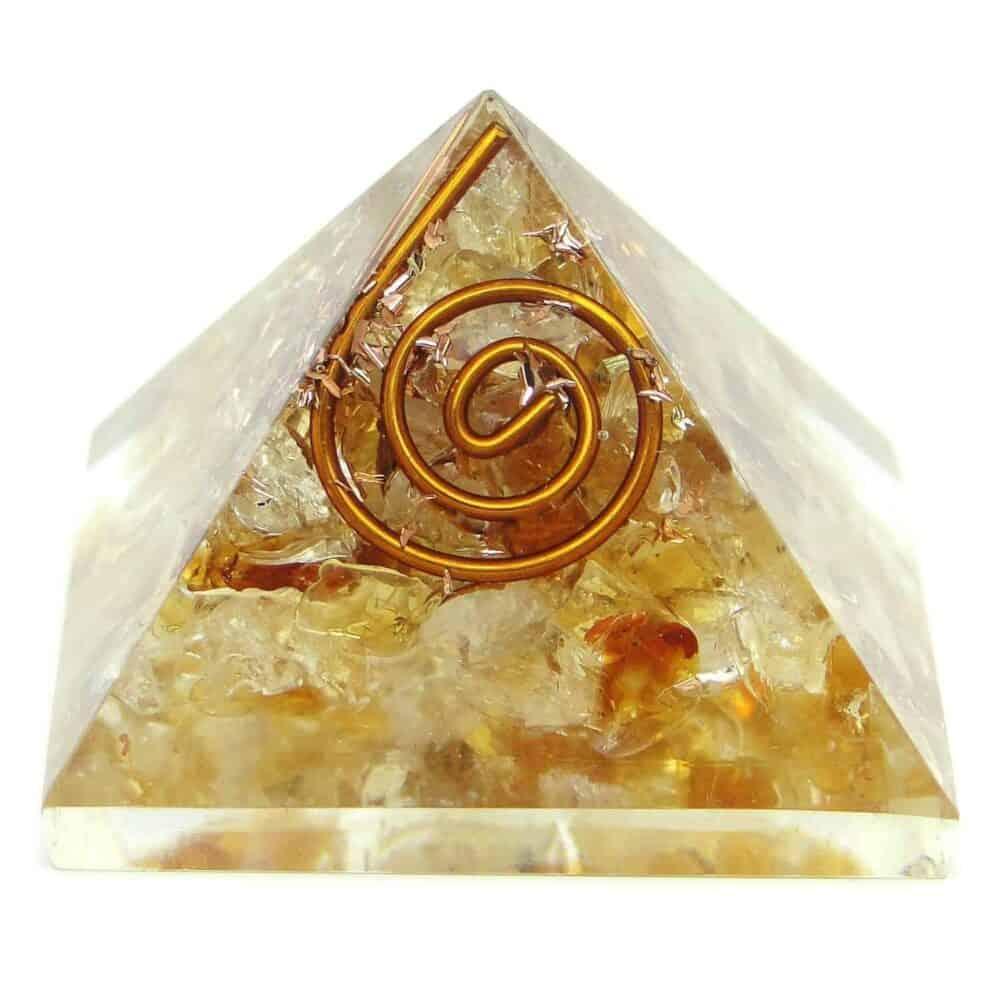Citrine Orgone Pyramid Nature's Crest OPY005 ₹299.00