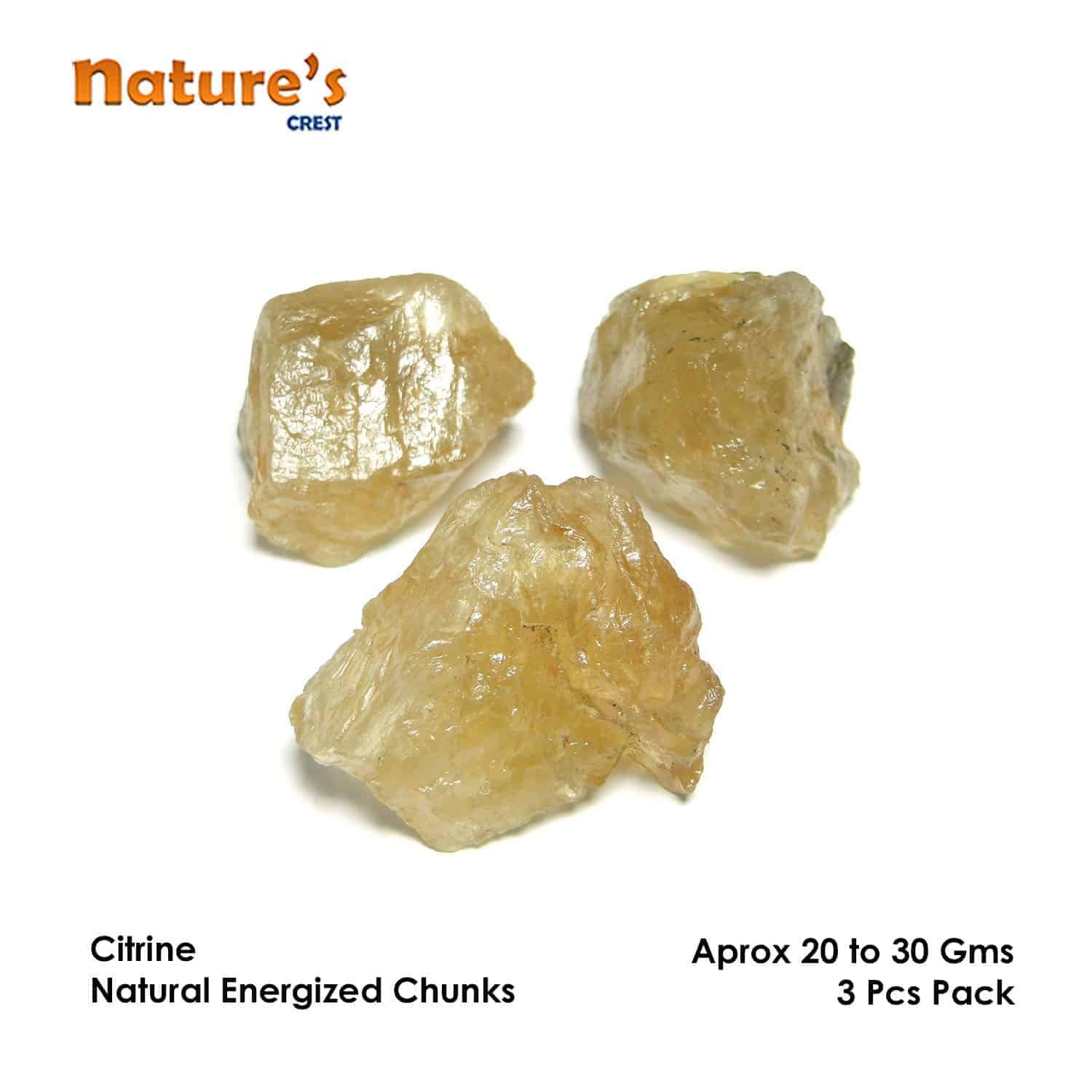 Citrine Natural Raw Rough Chunks Nature's Crest RC008 ₹0.00