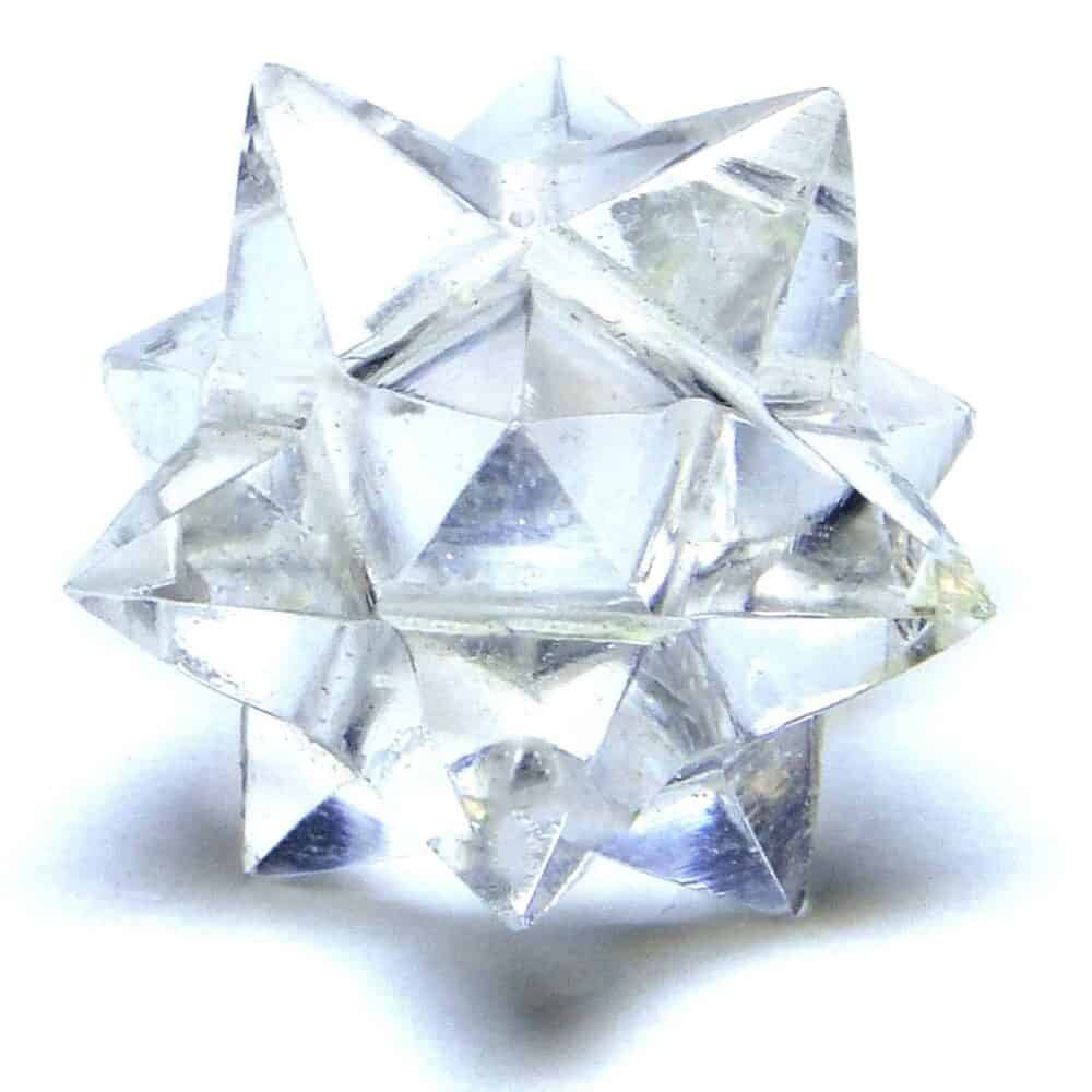Crystal Quartz (Sphatik) 12 Point Merkaba Star Nature's Crest MS12001 ₹ 449.00