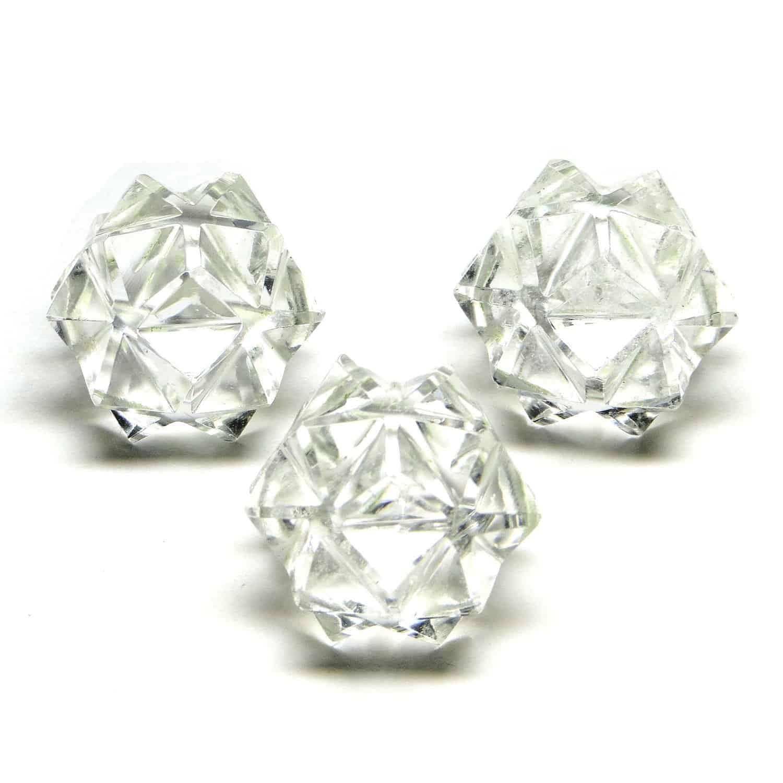 Crystal Quartz (Sphatik) 20 Point Merkaba Star Nature's Crest MS20001 ₹449.00