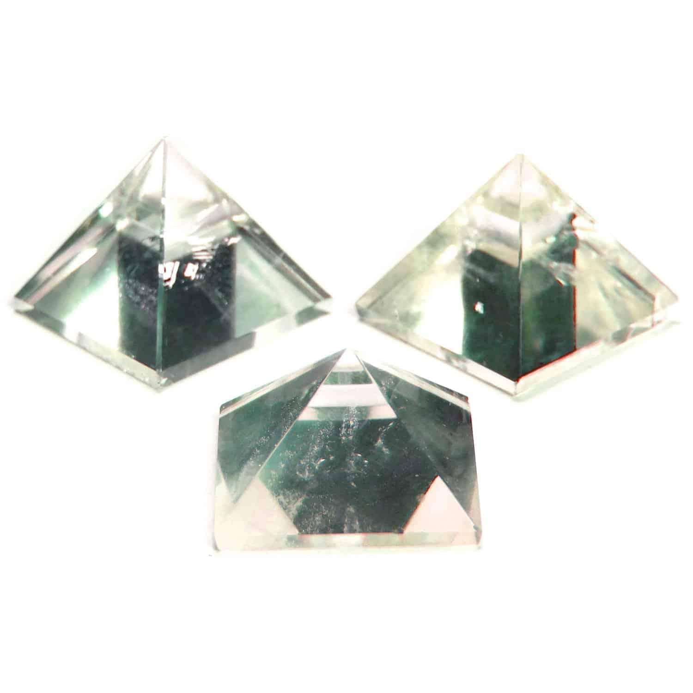 Crystal Quartz (Sphatik) Pyramid Clear Nature's Crest PY0014 ₹249.00