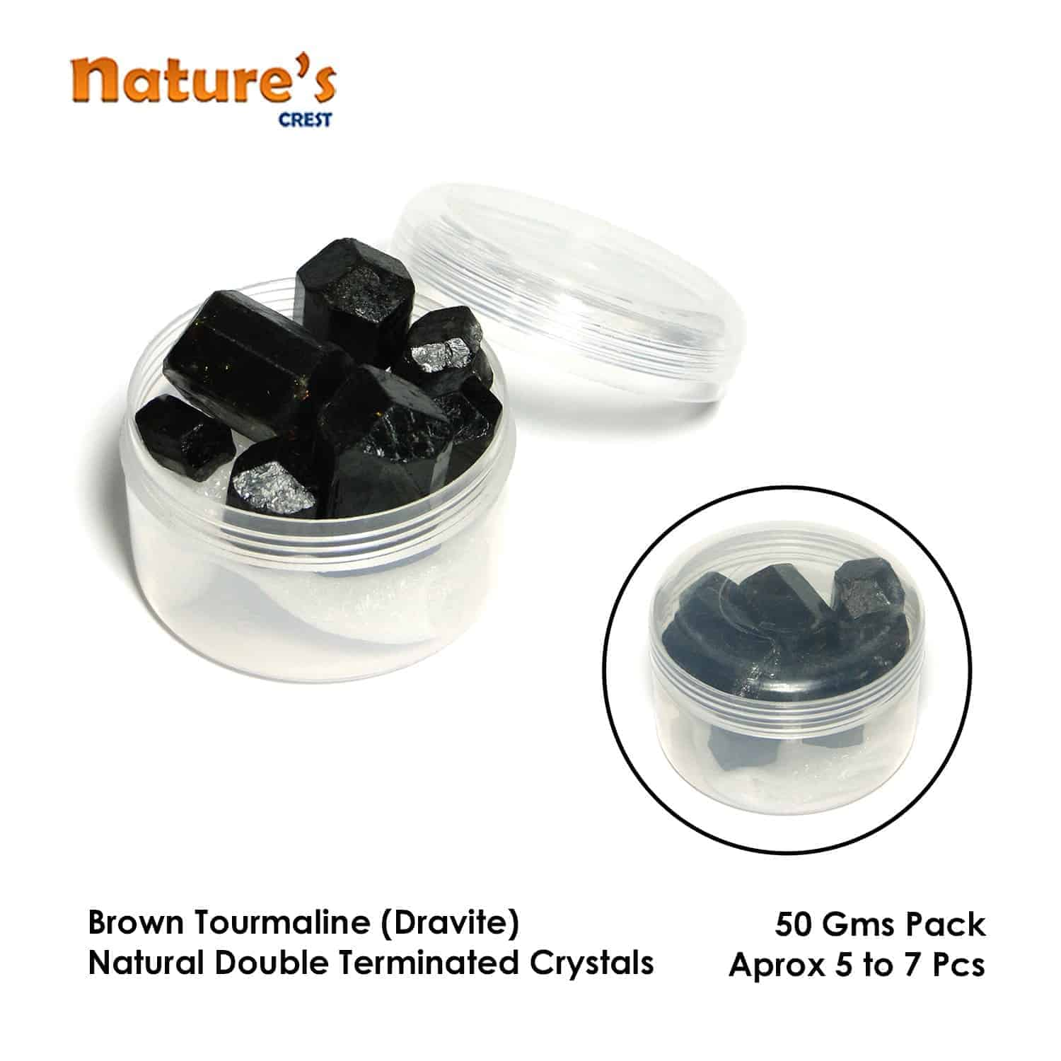 Brown Tourmaline (Dravite) Double Terminated Natural Raw Rough Crystals Nature's Crest RC013 ₹399.00