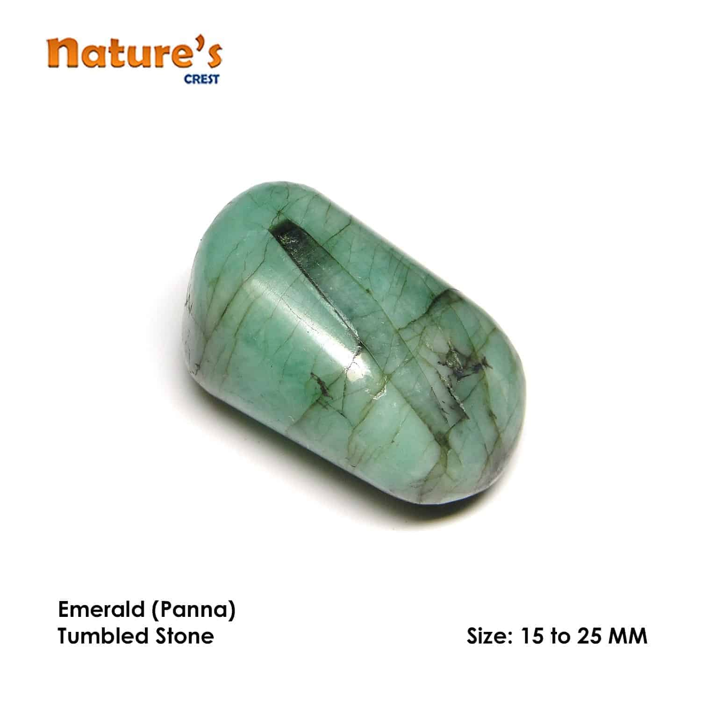 Emerald (Panna) Tumbled Pebble Stones Nature's Crest TS006 ₹249.00