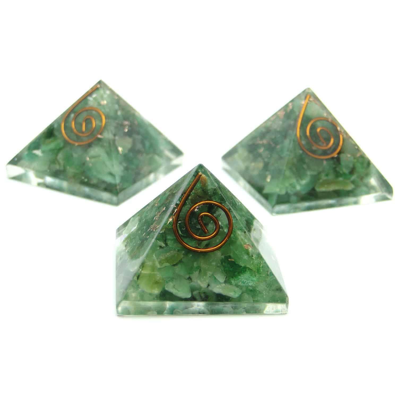 Green Aventurine Orgone Pyramid Nature's Crest OPY007 ₹299.00