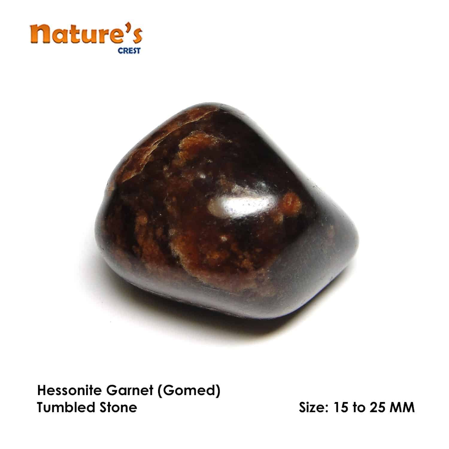 Hessonite Garnet (Gomed) Tumbled Pebble Stones Nature's Crest TS008 ₹ 249.00