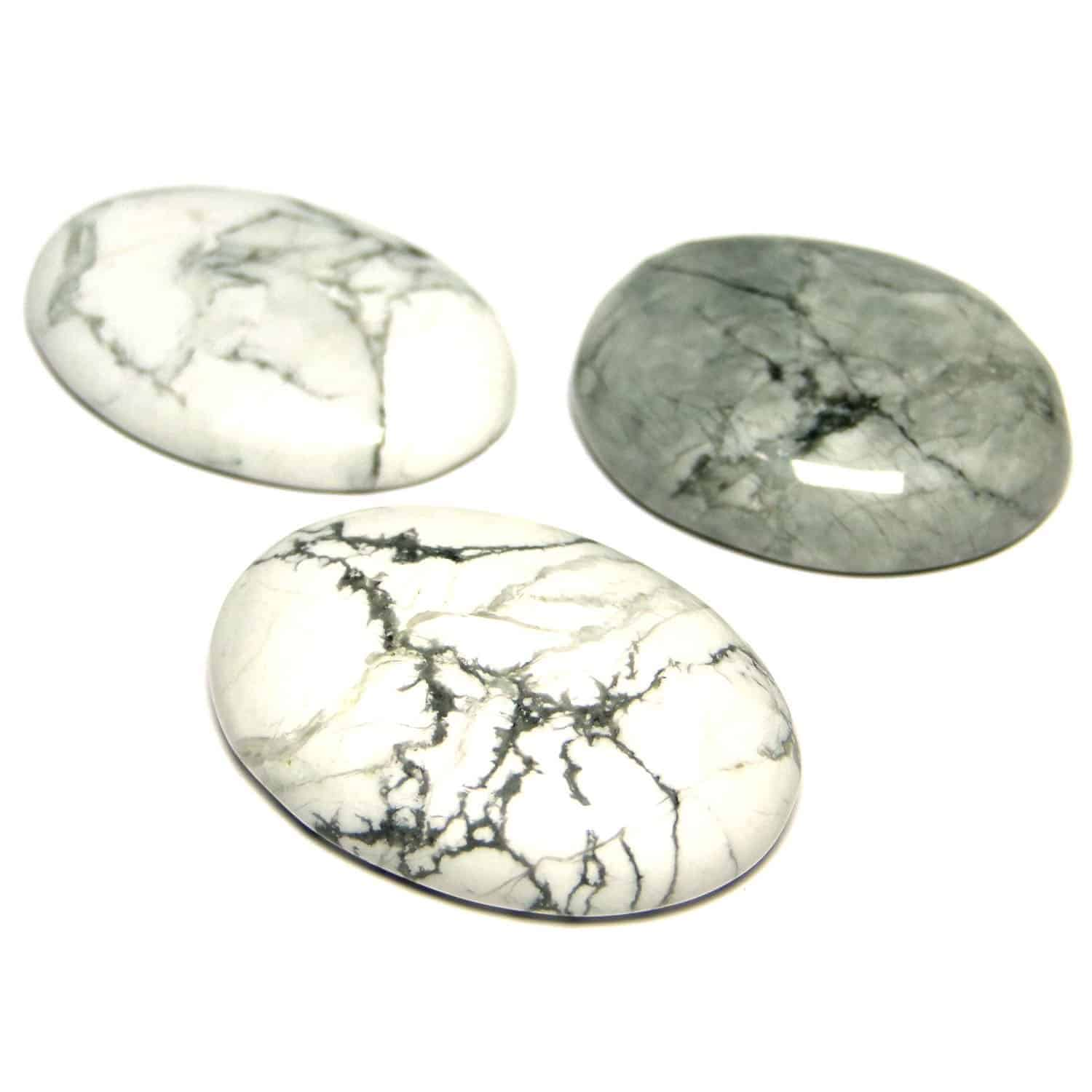 Howlite Oval Cabochon Nature's Crest CO0030 ₹ 349.00