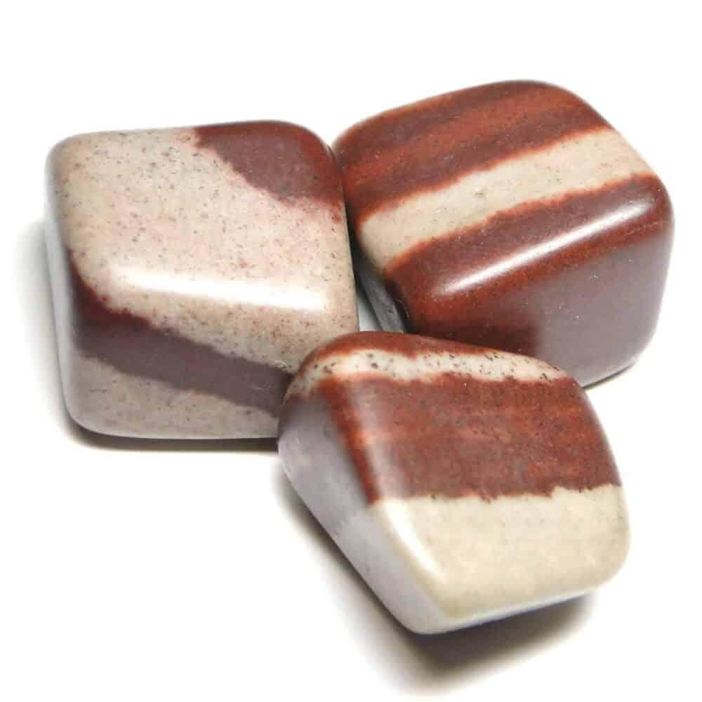 Nature's crest - lingam stone (narmada river stone) tumbled pebble stones - narmada river lingam stone tumbled stone 3 pc