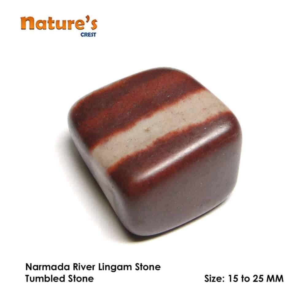 Nature's crest - lingam stone (narmada river stone) tumbled pebble stones - narmada river lingam stone tumbled stones