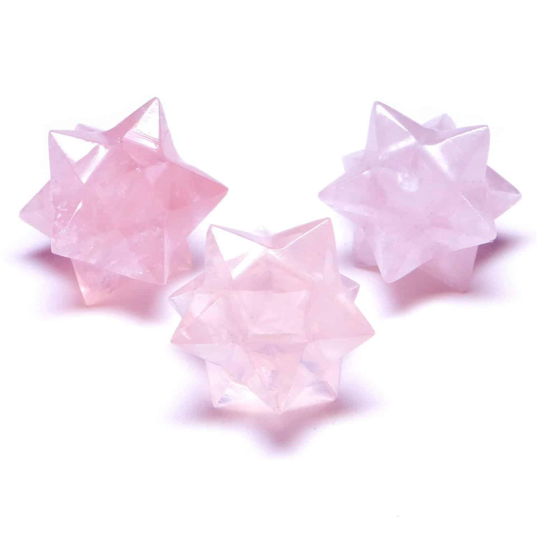 Rose Quartz 12 Point Merkaba Star Nature's Crest MS12002 ₹449.00