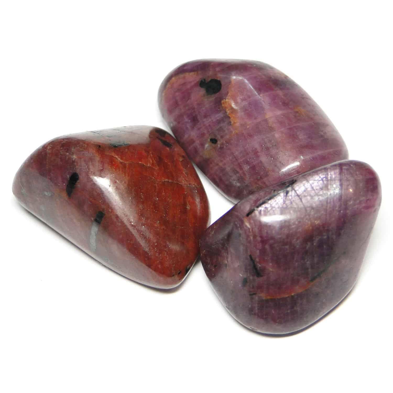 Ruby (Manek / Manik) Tumbled Pebble Stones Nature's Crest TS014 ₹249.00