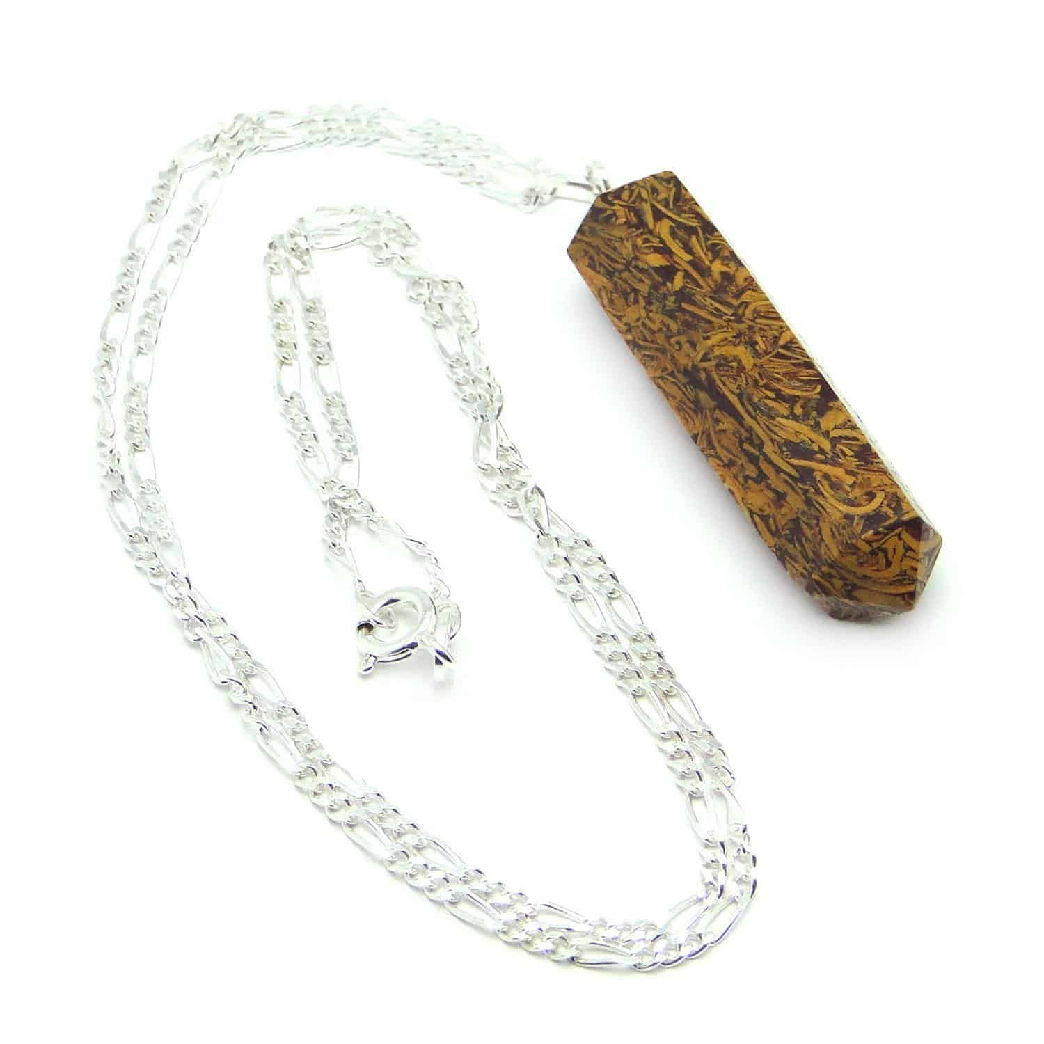 Snake Jasper Pencil Pendant Nature's Crest PP015 ₹ 249.00