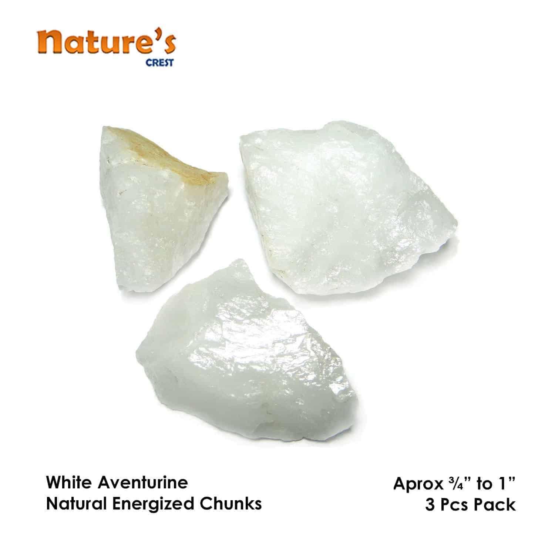 White Aventurine Natural Raw Rough Chunks Nature's Crest RC023 ₹199.00