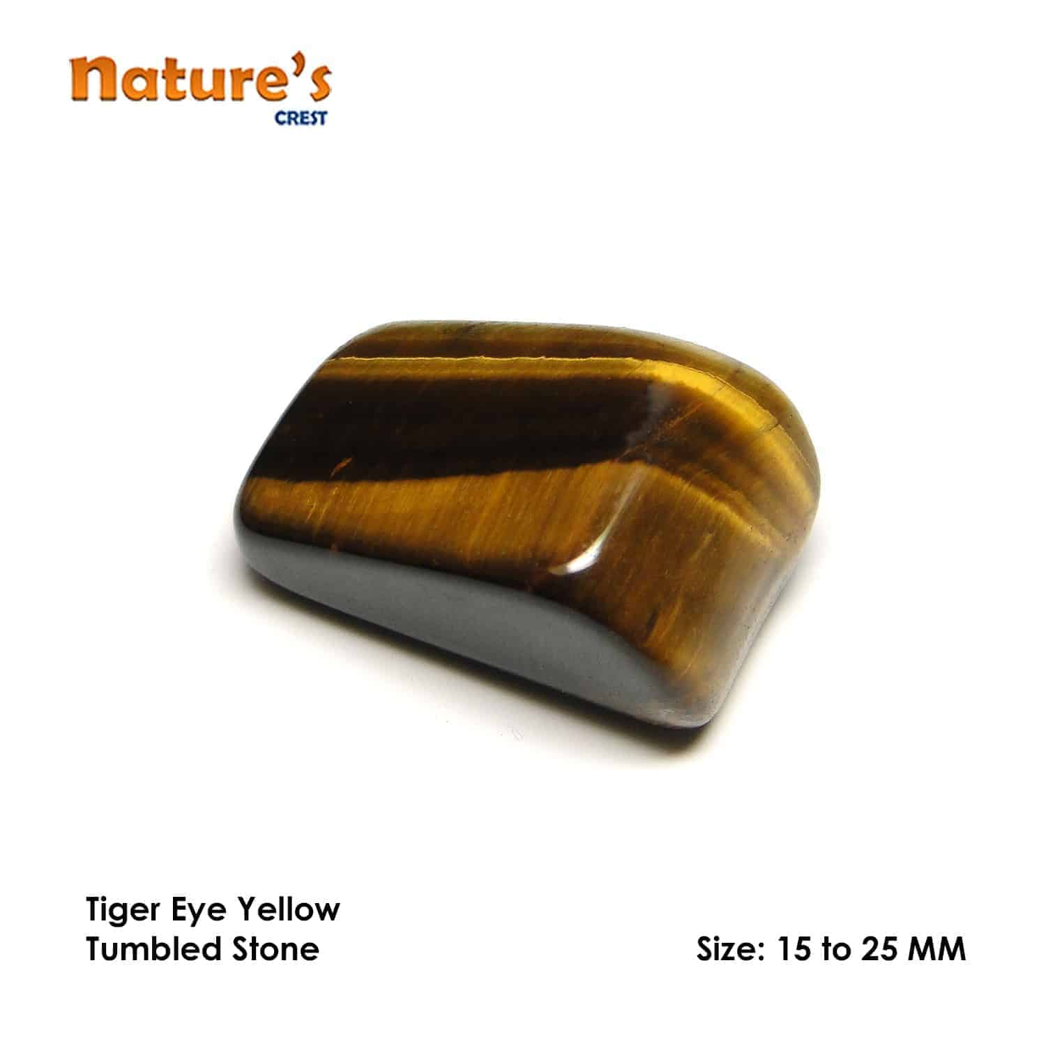 Tiger Eye Yellow Tumbled Pebble Stones Nature's Crest TS022 ₹ 199.00
