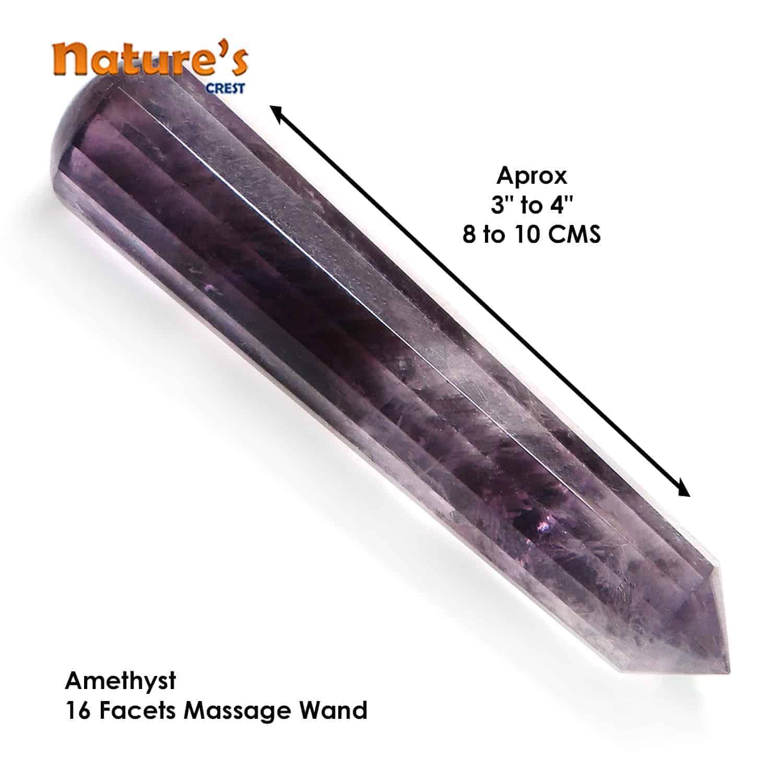 Amethyst Healing Wand Massage Stick Nature's Crest MS004 ₹749.00