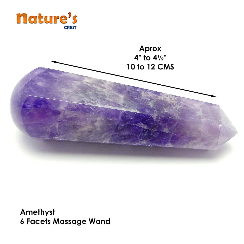 Amethyst Healing Wand Massage Stick Nature's Crest MS003 ₹749.00