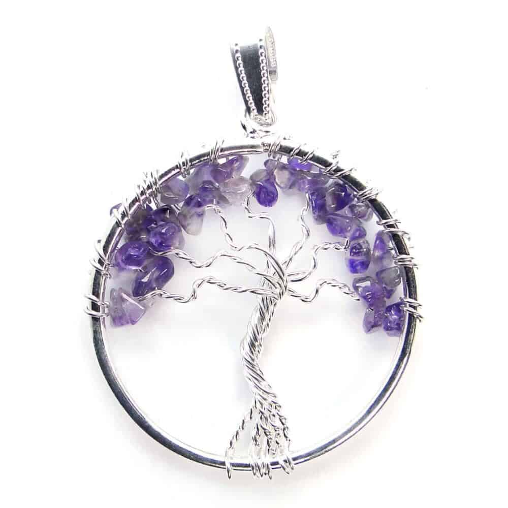 Amethyst Tree of Life Pendant Nature's Crest TOL001 ₹ 249.00