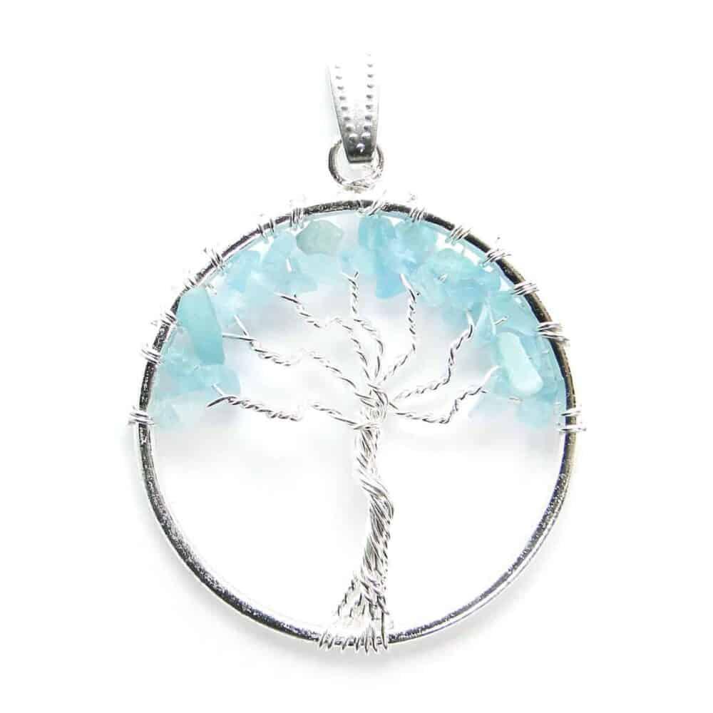 Aquamarine Tree of Life Pendant Nature's Crest TOL002 ₹249.00