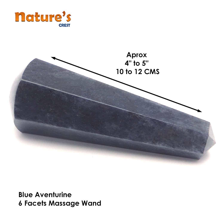 Blue Aventurine Healing Wand Massage Stick Nature's Crest MS006 ₹499.00