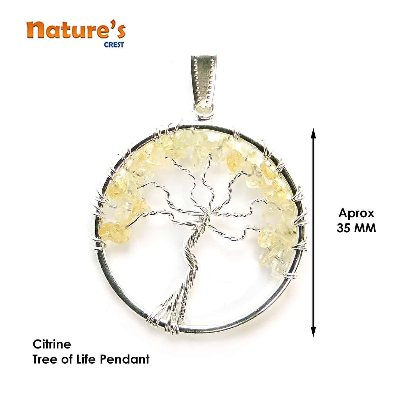 Citrine Tree of Life Pendant Nature's Crest TOL004 ₹249.00