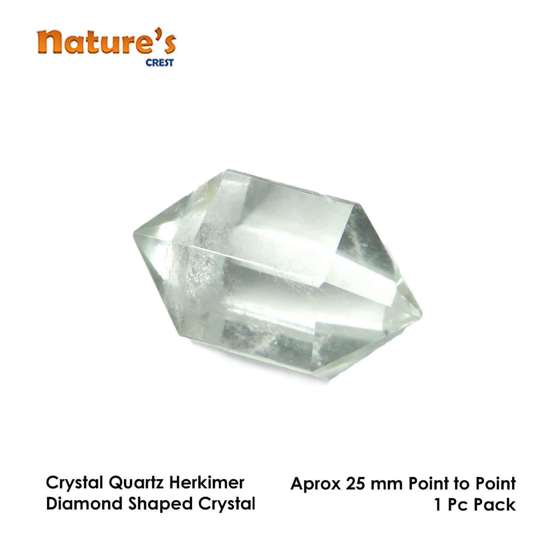 Crystal Quartz (Sphatik) Herkimer Diamond Nature's Crest HCP001 ₹299.00