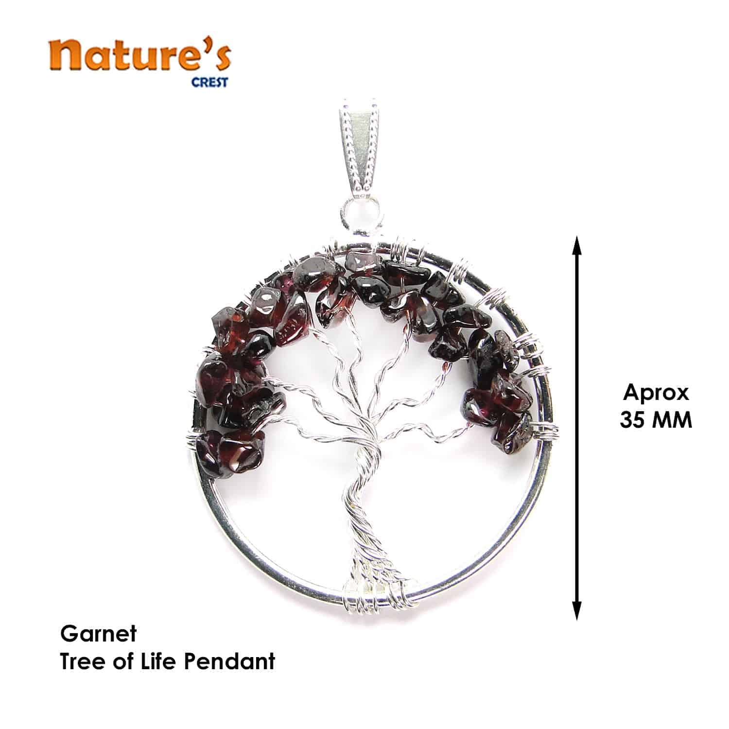 Garnet Tree of Life Pendant Nature's Crest TOL007 ₹ 249.00