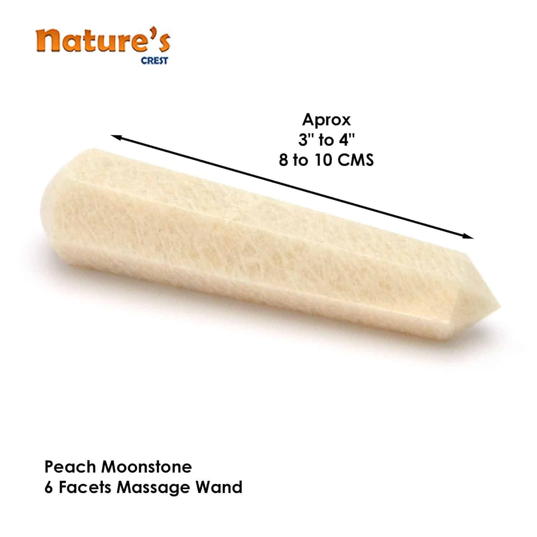 Peach Moonstone Healing Wand Massage Stick Nature's Crest MS011 ₹499.00