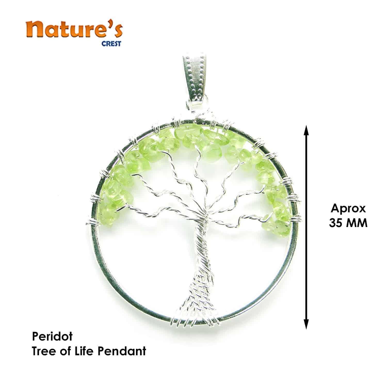 Peridot Tree of Life Pendant Nature's Crest TOL011 ₹249.00