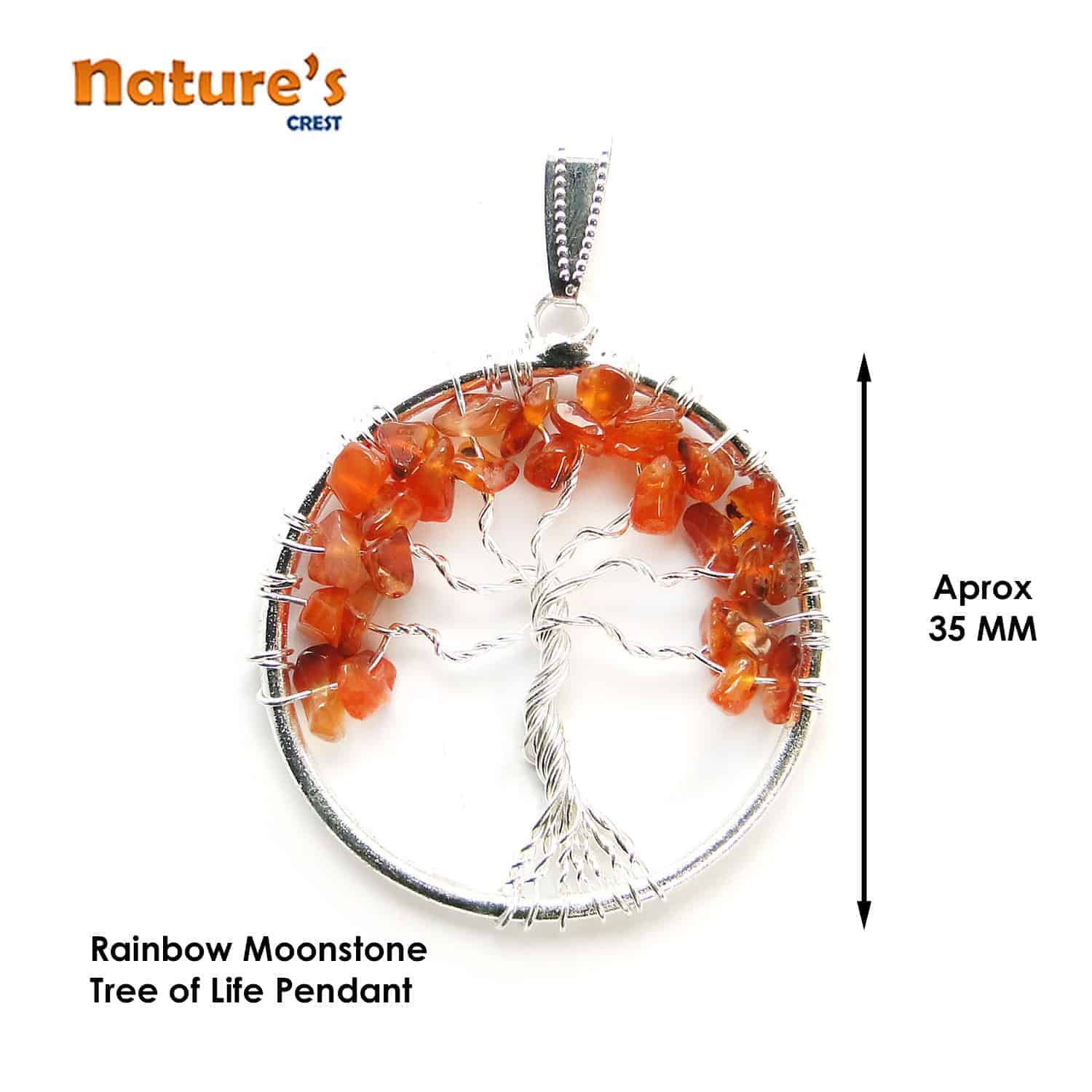 Red Carnelian Tree of Life Pendant Nature's Crest TOL013 ₹249.00