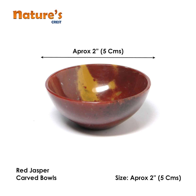 "Red Jasper Gemstone Bowl 2"" Nature's Crest BO004 ₹949.00"