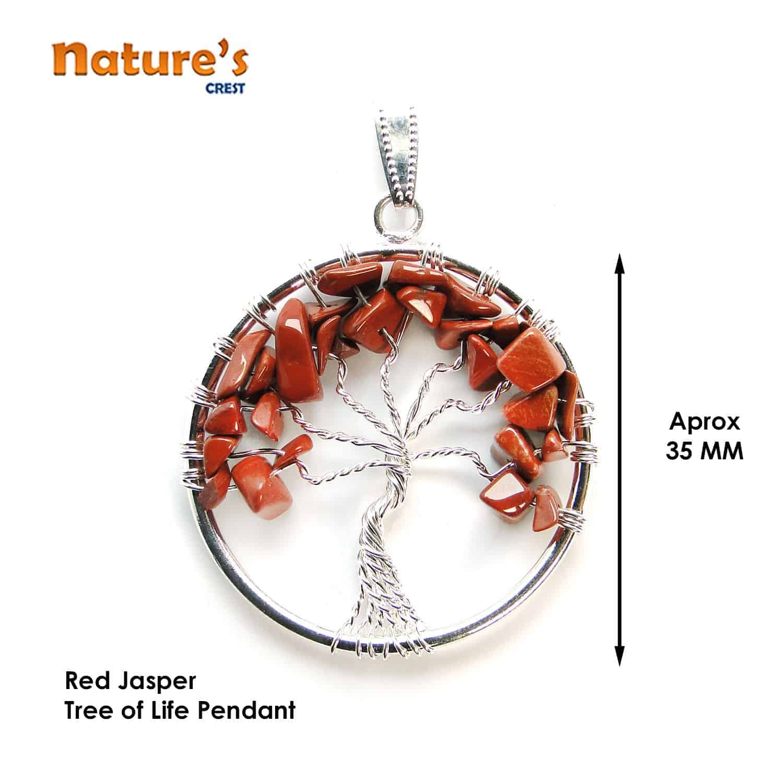 Red Jasper Tree of Life Pendant Nature's Crest TOL014 ₹249.00