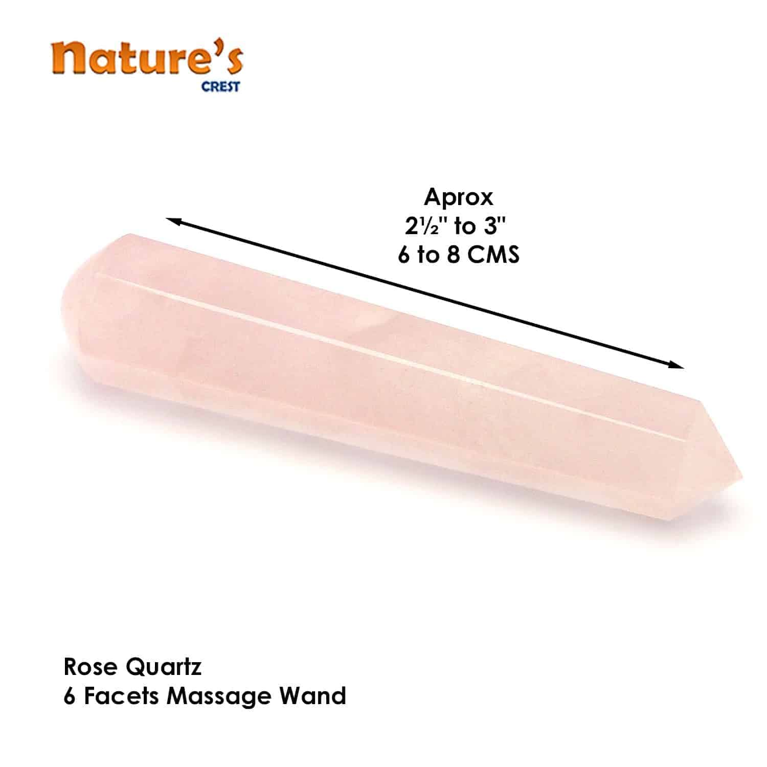 Rose Quartz Healing Wand Massage Stick Nature's Crest MS014 ₹ 499.00