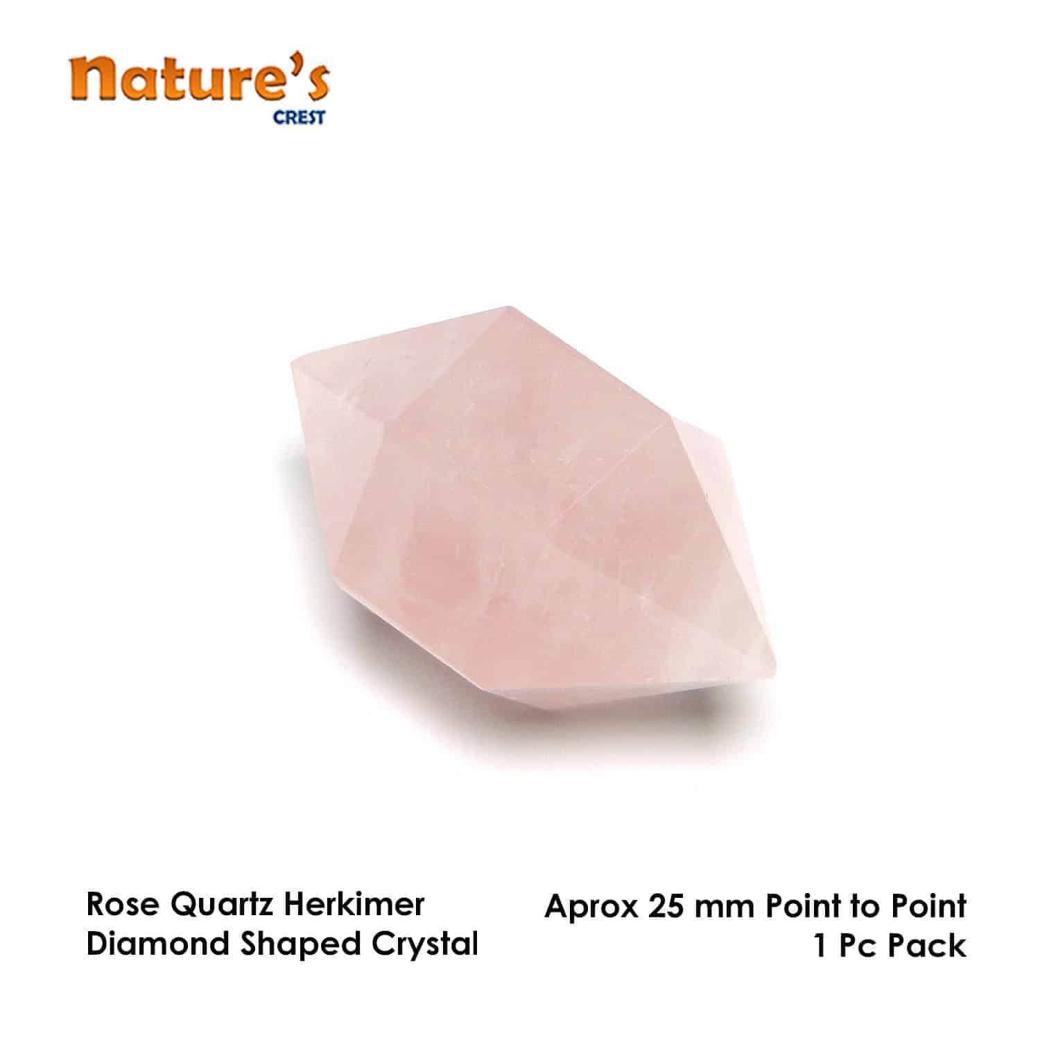 Rose Quartz Herkimer Diamond Nature's Crest HCP003 ₹ 299.00