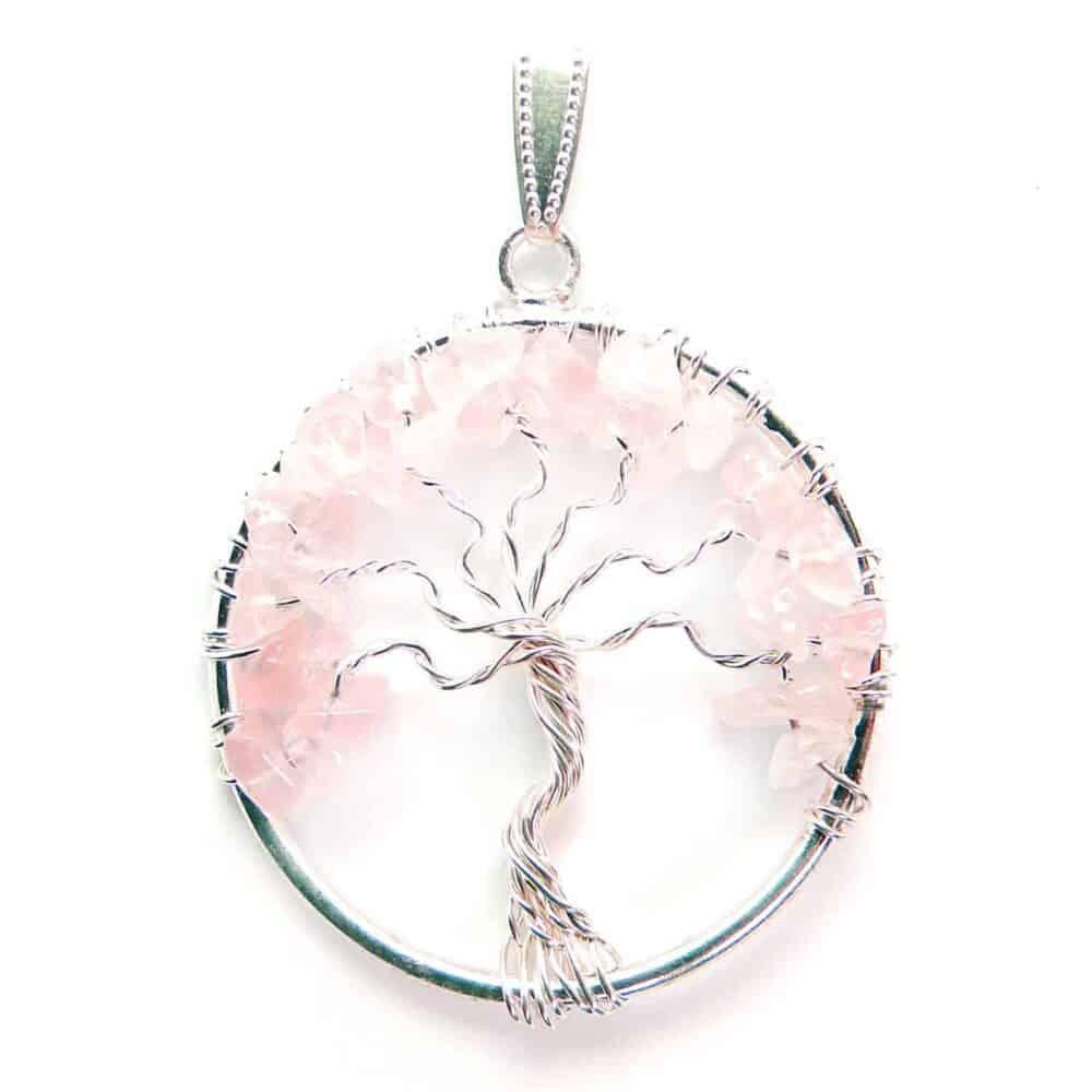 Rose Quartz Tree of Life Pendant Nature's Crest TOL015 ₹249.00