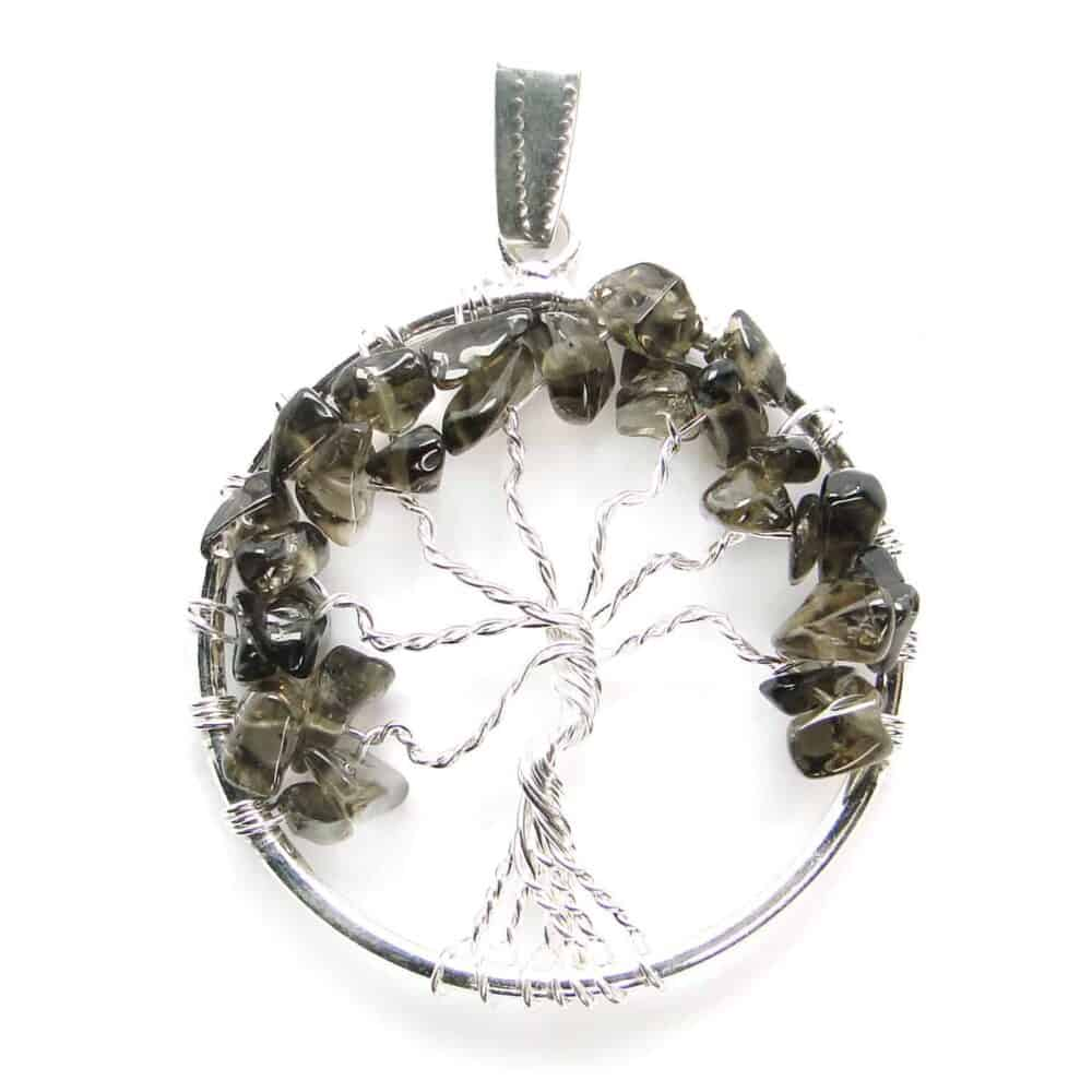 Smoky Quartz Tree of Life Pendant Nature's Crest TOL016 ₹249.00